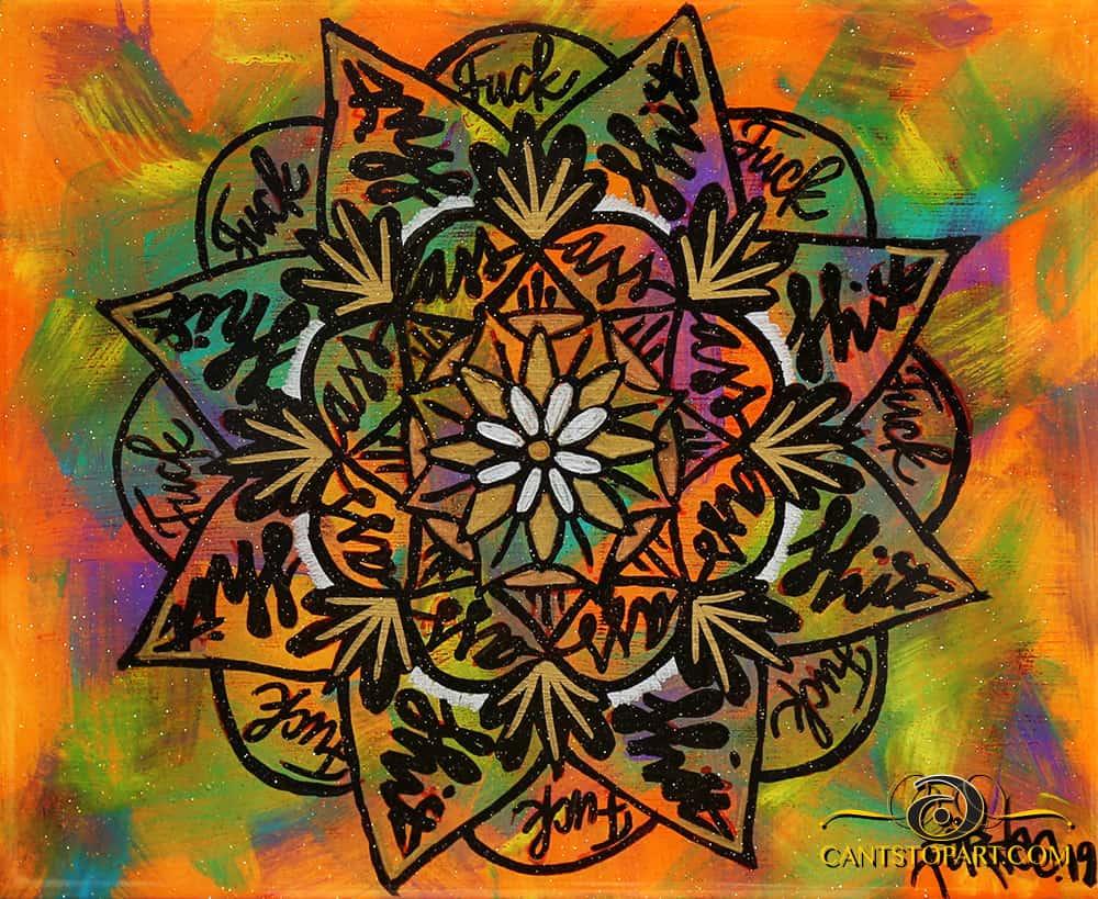 Swear Mandala – One Blue, One Orange