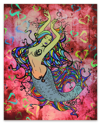 Mermaid Holographic Sticker