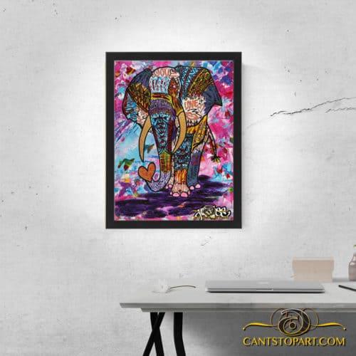 elephant framed