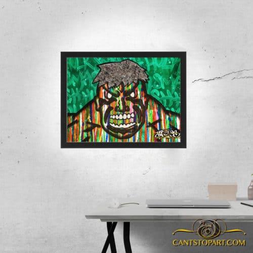 hulk smash framed