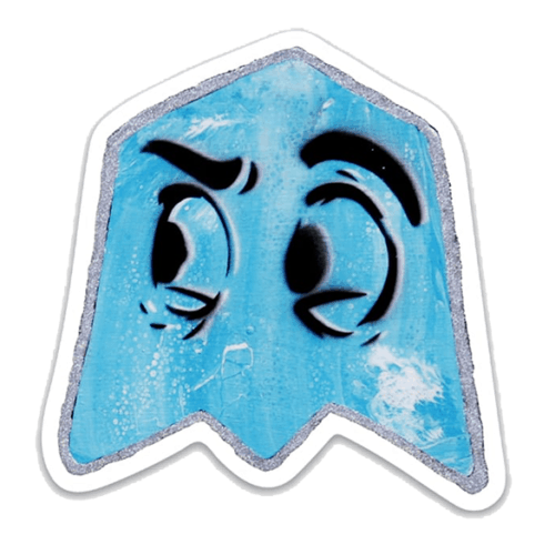 blue ghost sticker