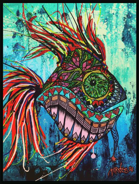 fisk sticker