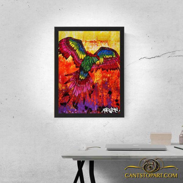parrot framed